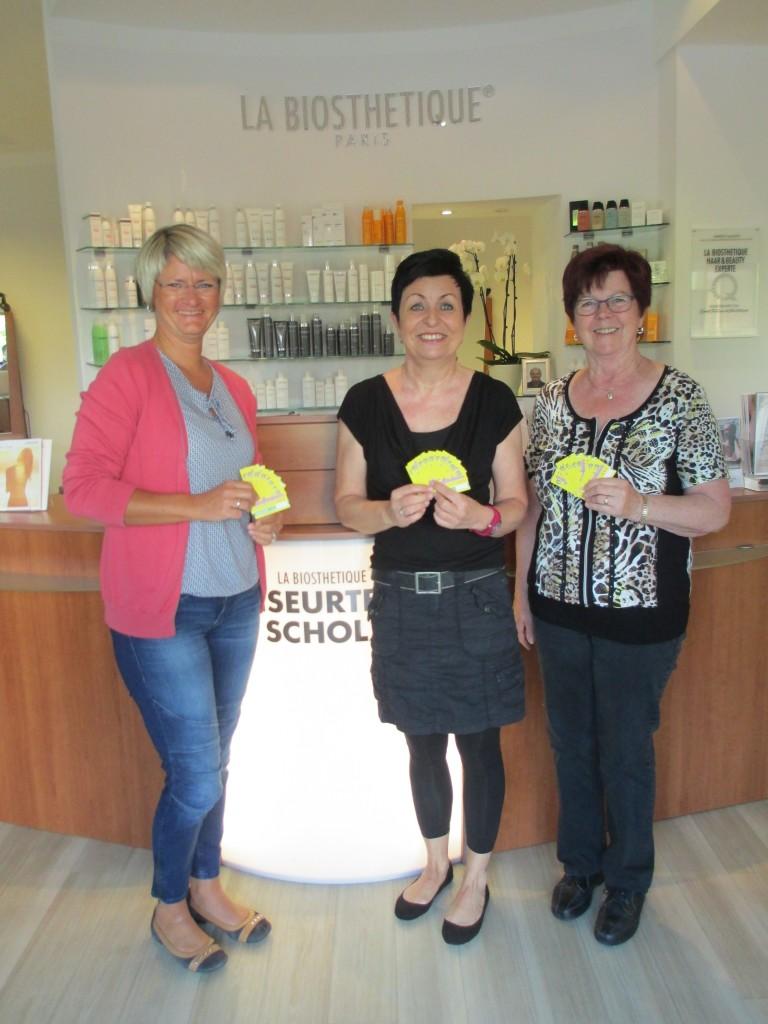 Bild von links nach rechts: Claudia Potocnik (Förderverein Grundschule), Christa Scholz (Gewerbeverein), Helga Mühlenbeck (Seniorenbeirat)